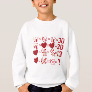 hearts equation valentine's day design sweatshirt