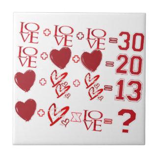 hearts equation valentine's day design tile