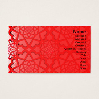Hearts Explosion Business Card