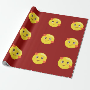 Heart Emoji Wrapping Paper, Gift Wrap & More | Zazzle CA