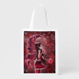 Hearts Fairy Fantasy Art Shopping Bag