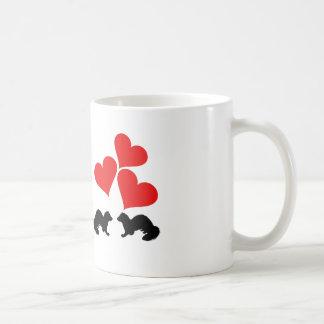 Hearts & Ferrets Coffee Mug