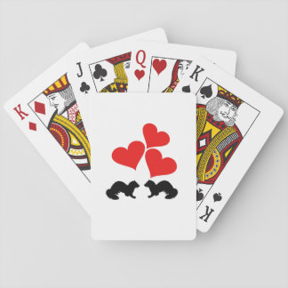 Hearts & Ferrets Playing Cards