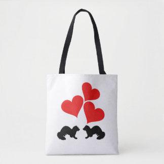 Hearts & Ferrets Tote Bag