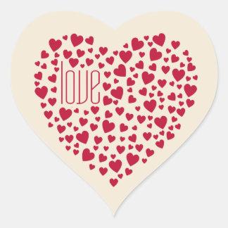 Hearts Full of Hearts Love Red Heart Sticker