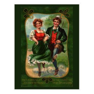 Hearts Full Of Joy Vintage Postcard