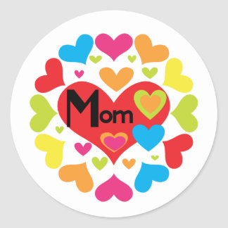 Hearts Galore Mom T-shirts and Gifts Classic Round Sticker