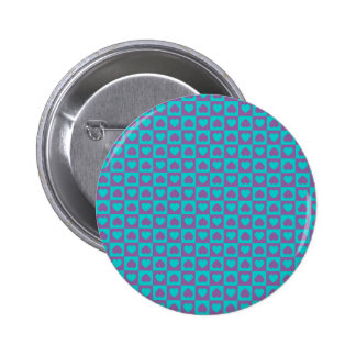 Hearts Galore Purple and Blue 2 Inch Round Button