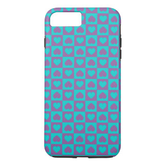Hearts Galore Purple and Blue iPhone 7 Plus Case