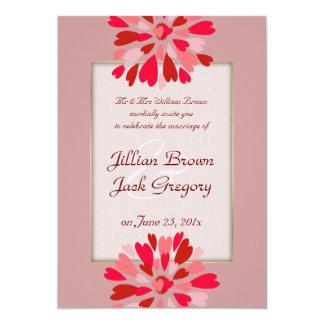 "Hearts Galore WEDDING 5"" X 7"" Invitation Card"