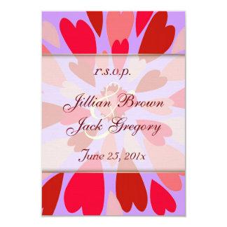 "Hearts Galore Wedding RSVP 3.5"" X 5"" Invitation Card"