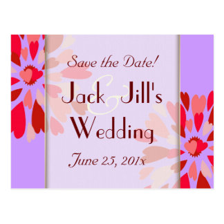 Hearts Galore WEDDING Save The Date Postcard