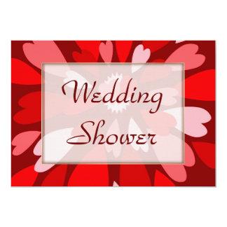 "Hearts Galore WEDDING Shower 5"" X 7"" Invitation Card"