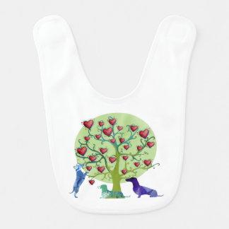 Hearts Garden Art  Dachshund Baby Bib