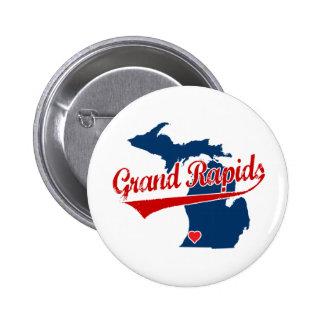 Hearts Grand Rapids Michigan 2 Inch Round Button