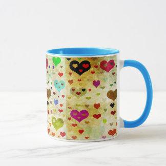Hearts-Grunged by Shirley Taylor Mug