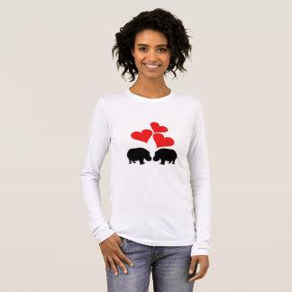 Hearts & Hippos Long Sleeve T-Shirt