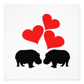 Hearts & Hippos Photo Print