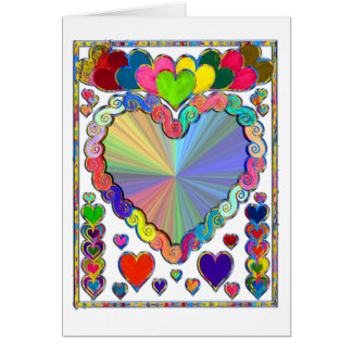 Hearts in a Frame Card