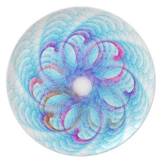Hearts In A Swirl Melamine Plate