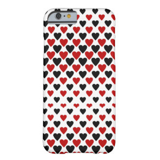 Hearts in Black and Red Barely There iPhone 6 Case