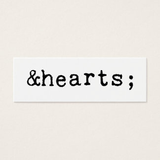 Hearts in HTML Mini Business Card