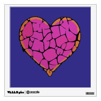 Heartsin love wall decal
