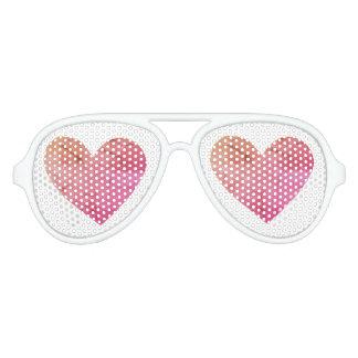 Hearts In My Eyes Aviator Sunglasses