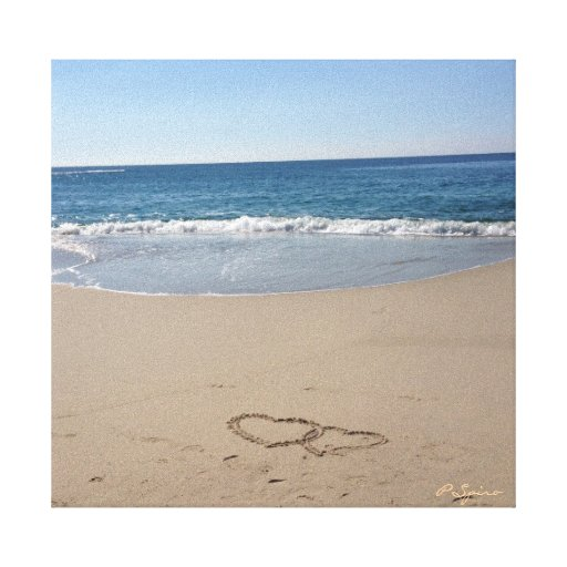 Hearts in the Sand Canvas Canvas Prints