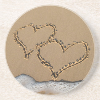 Hearts in the Sand coasters