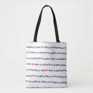 Hearts inline Tote Bag