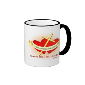 Hearts joined by God Christian gift Coffee Mug