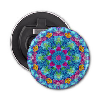 Hearts Kaleidoscope Magnetic Bottle Openers