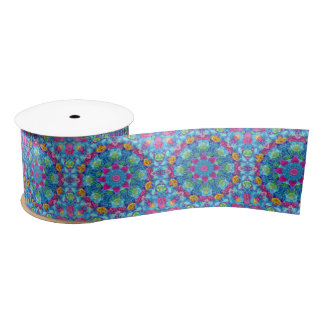 Hearts Kaleidoscope   Ribbons, 1.5 or 3 inch Satin Ribbon
