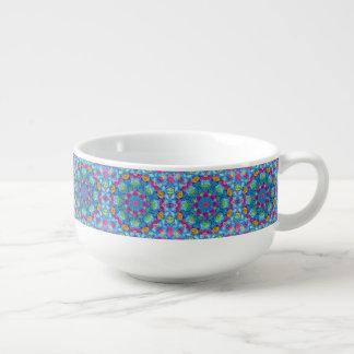 Hearts Kaleidoscope    Soup Mugs