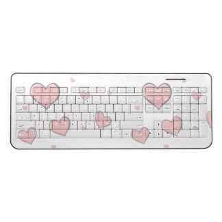 Hearts Keyboard- Portable keyboard- Cute keyboard