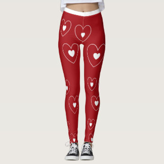 hearts leggings by DAL