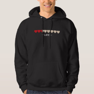 hearts life bar video games gaming gamer hooded sweatshirts