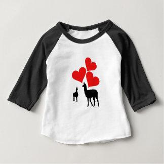 Hearts & Llamas Baby T-Shirt