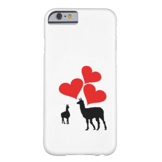 Hearts & Llamas Barely There iPhone 6 Case