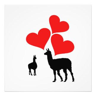 Hearts & Llamas Photo Print