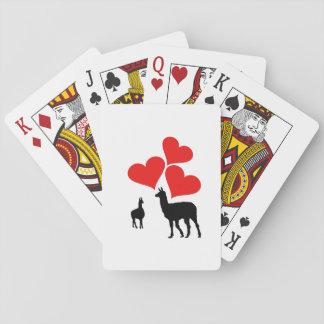 Hearts & Llamas Playing Cards