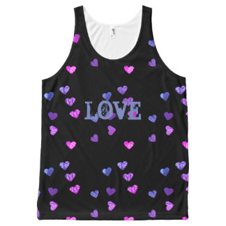 Hearts Love All-Over-Print Tank Top