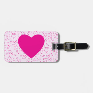 Hearts Love And Kisses Luggage Tag