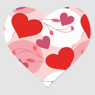 Hearts Love Romance Valentines Day Pink Feminine Heart Sticker