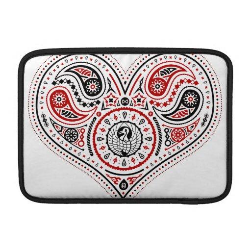 Hearts - Macbook Air Sleeve (White/Red/Black)
