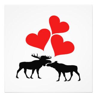 Hearts & Moose Photo Print