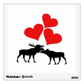 Hearts & Moose Wall Sticker