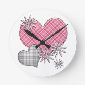 Hearts n flowers clock