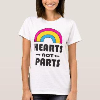Hearts Not Parts Pansexual LGBT Pride T-Shirt